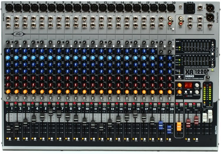peavey xr 1220 20 channel 1200w powered mixer sweetwater rh sweetwater com peavey xr1212 schematic Peavey XR Powering Off