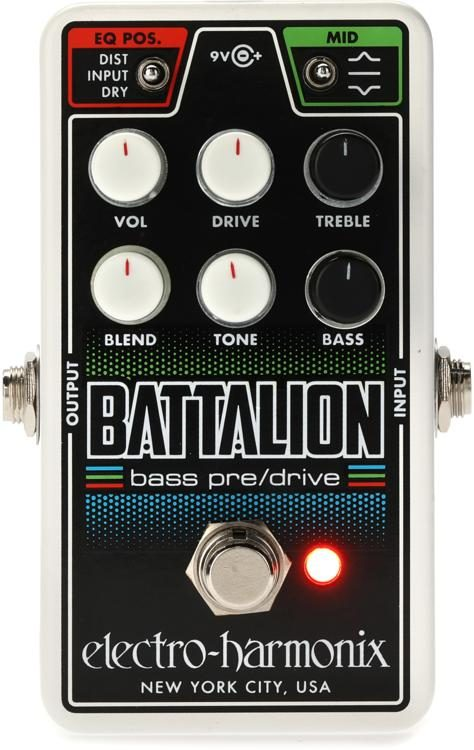 Used Electro-Harmonix EHX Battalion Bass Preamp DI Pedal w// Power supply