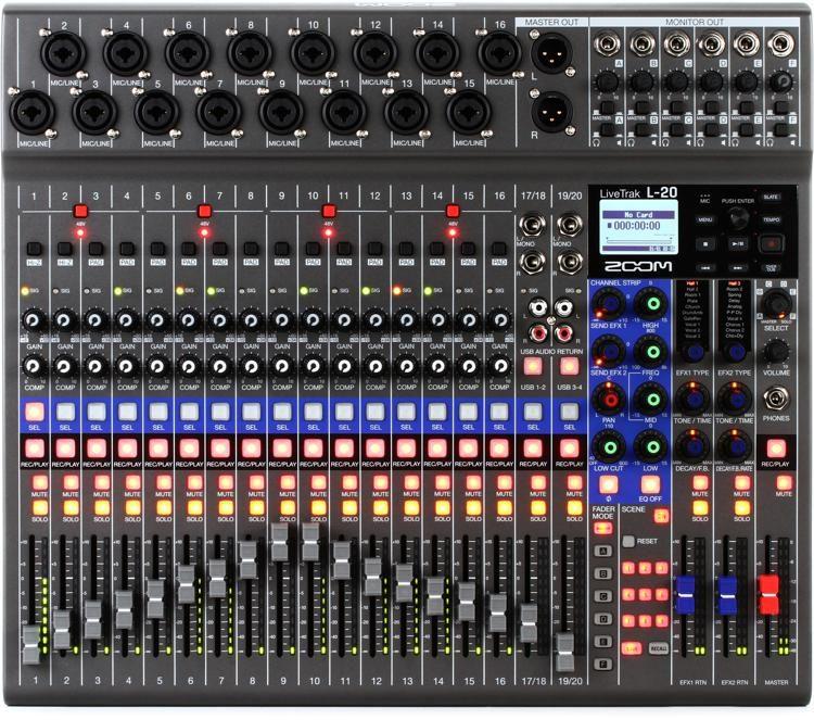 94685a92d58c Zoom LiveTrak L-20 20-channel Digital Mixer / Recorder   Sweetwater