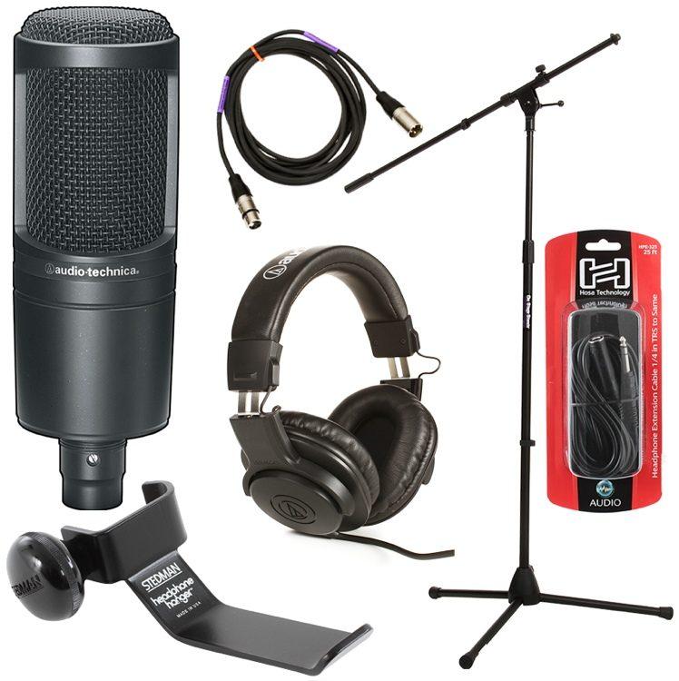 Audio Technica AT2020 Cardioid Condenser Microphone