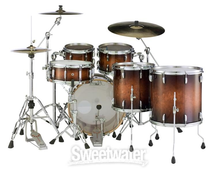 hardware//cymbals not included Pearl Session Studio Select Series 5-piece shell pack Gloss Barnwood Brown STS925XSP//C314