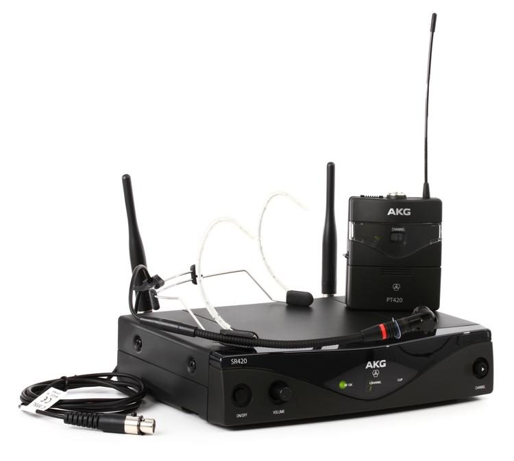 AKG Pro Audio WMS420 Head Set Band A Wireless Microphone System