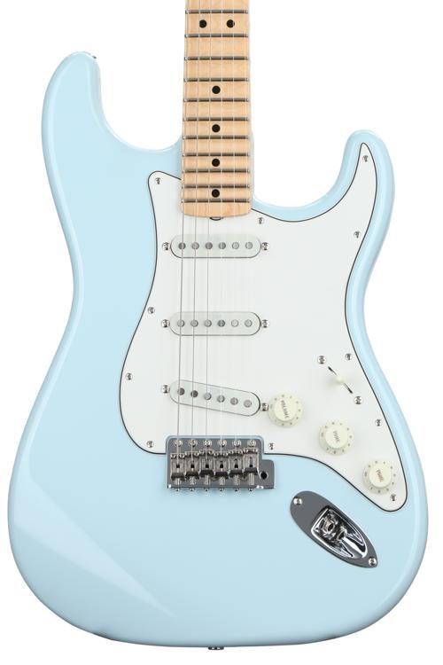 Yngwie Malmsteen Signature Stratocaster - Sonic Blue w/ Scalloped Maple  Fingerboard