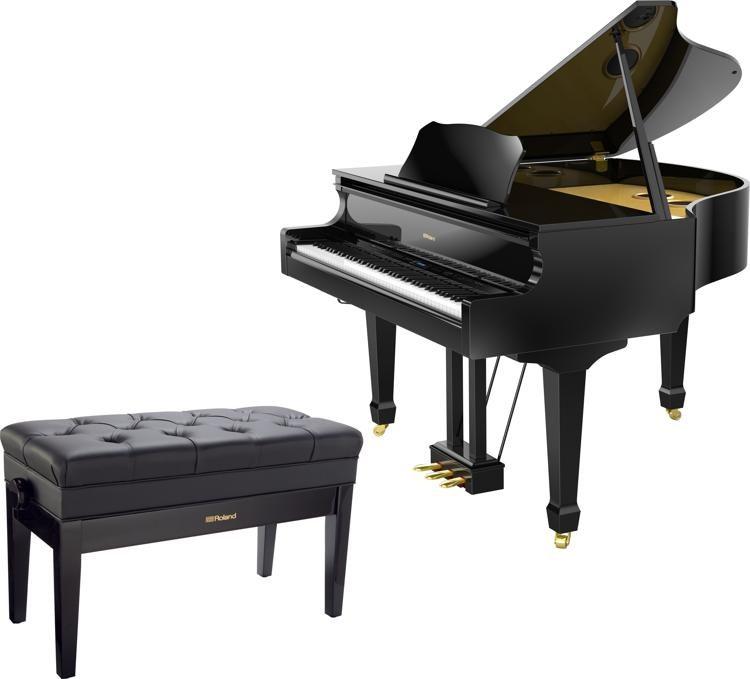 Digital Baby Grand Piano >> Roland Gp609 Digital Grand Piano Polished Ebony Sweetwater
