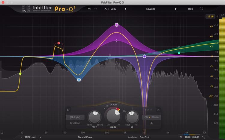 fabfilter pro-q 3 eq and filter plug-in | sweetwater