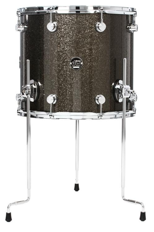 Dw Performance Series Floor Tom 14 X 16 Pewter Sparkle