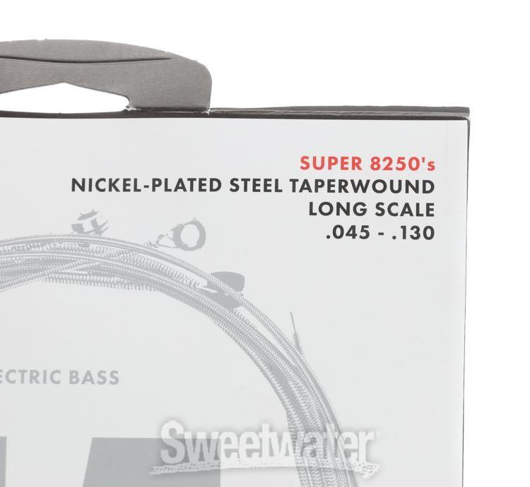 .045-.110 Long Scale FENDER 8250M Bass Nickel Plated Steel Taperwound