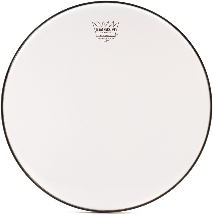 """14/"""" Remo Ambassador Hazy Snare Side Drumhead"""