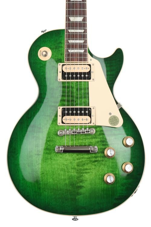 9746d7cb6a Gibson 2019 Les Paul Classic  57 Zebra Sweetwater Exclusive - Green Ocean  Burst