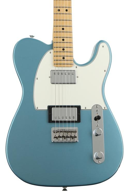 fender player series telecaster hh - tidepool w/ maple fingerboard