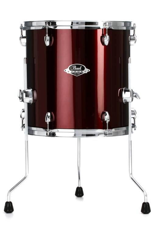 Pearl Export Exx Floor Tom 14 X 14 Burgundy Sweetwater