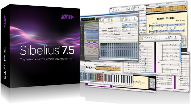 Sibelius 7 5 Multi-User Site License Upgrade from v7 (per Seat) -  Standalone Installation