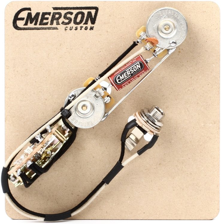 emerson custom 3 way reverse layout prewired kit for fender rh sweetwater com