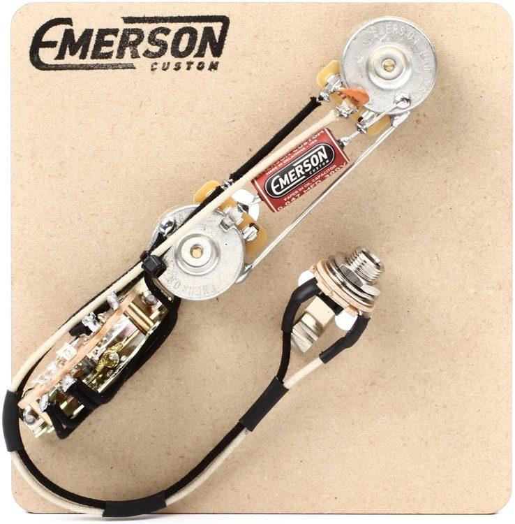 emerson custom 3 way reverse layout prewired kit for fenderemerson custom 3 way reverse layout prewired kit for fender telecasters 250k pots