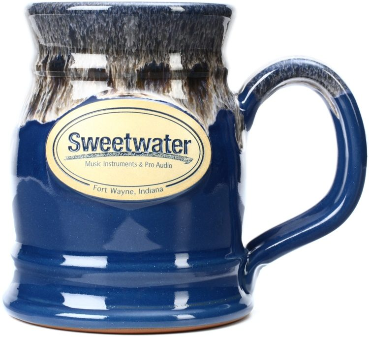 sweetwater tankard mug federal blue with sand white
