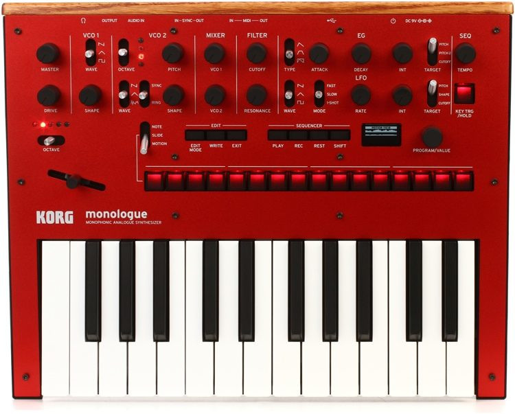 5f4a009fdd9 Korg monologue Analog Synthesizer - Red | Sweetwater