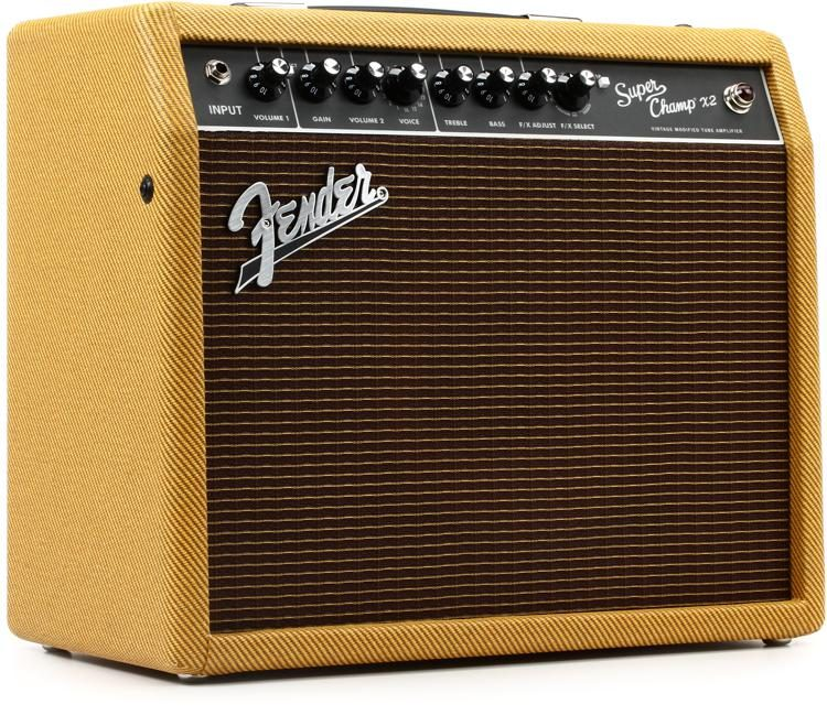 Fender Tweed Amp >> Super Champ X2 15 Watt 1x10 Tube Combo Amp Lacquered Tweed