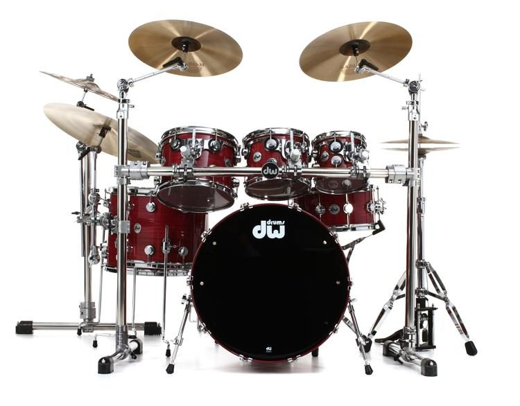 f87ac38f657a DW Collector s Lacquer Custom Purpleheart Wood Shell Pack - 7-pc - Gloss  Natural with