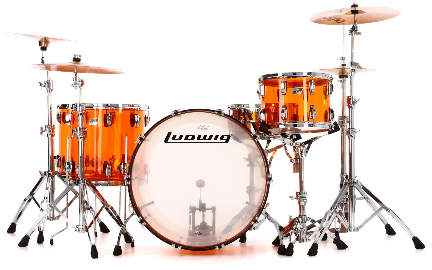 Ludwig Vistalite John Bonham Zep Set Shell Pack With Snare Drum Diagram Of A Kit This Shows The Parts And Names Amber Image 1
