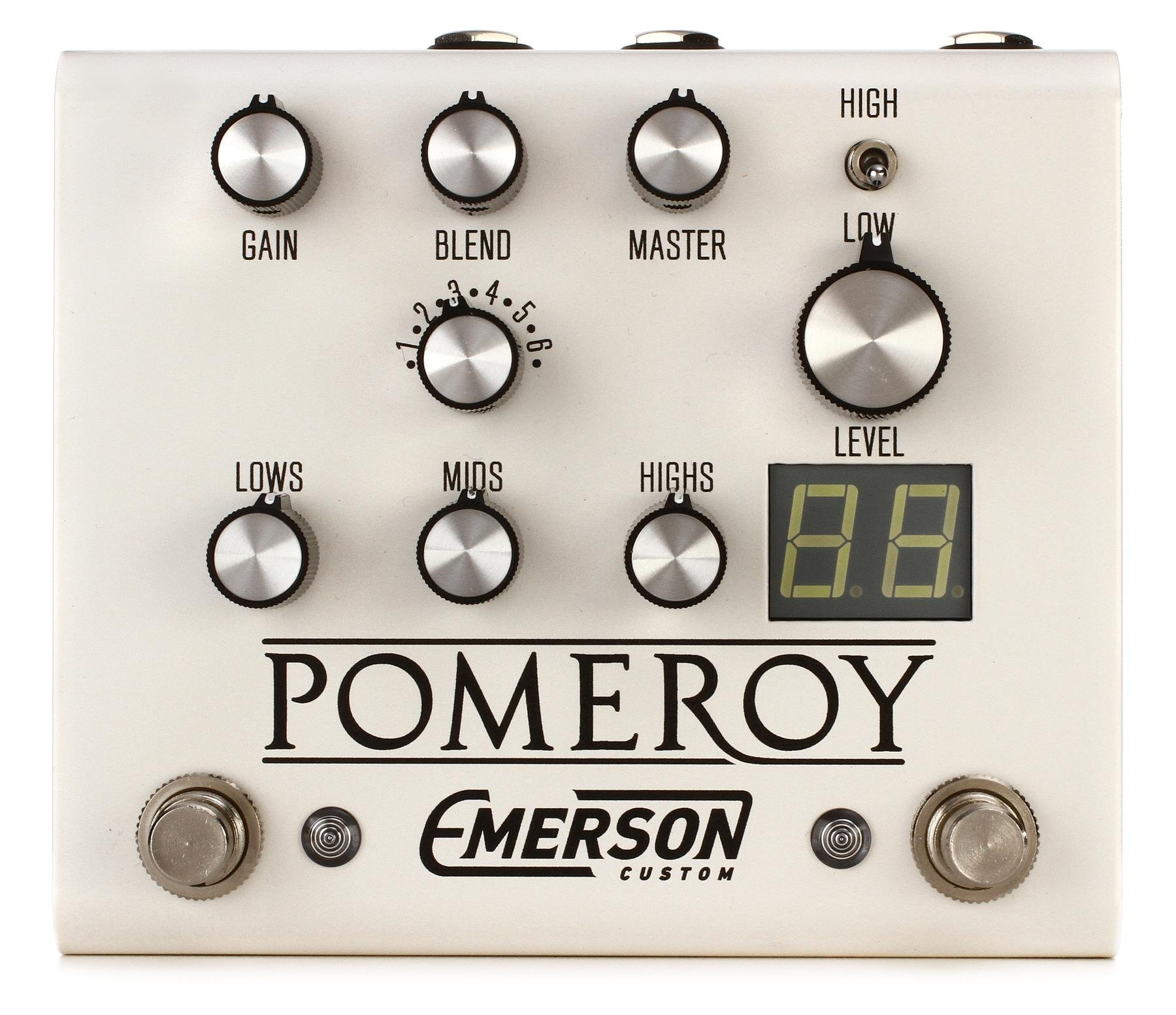 Emerson Custom Em Drive Transparent Overdrive Pedal Sweetwater Simple Audio Booster Pomeroy Boost Distortion