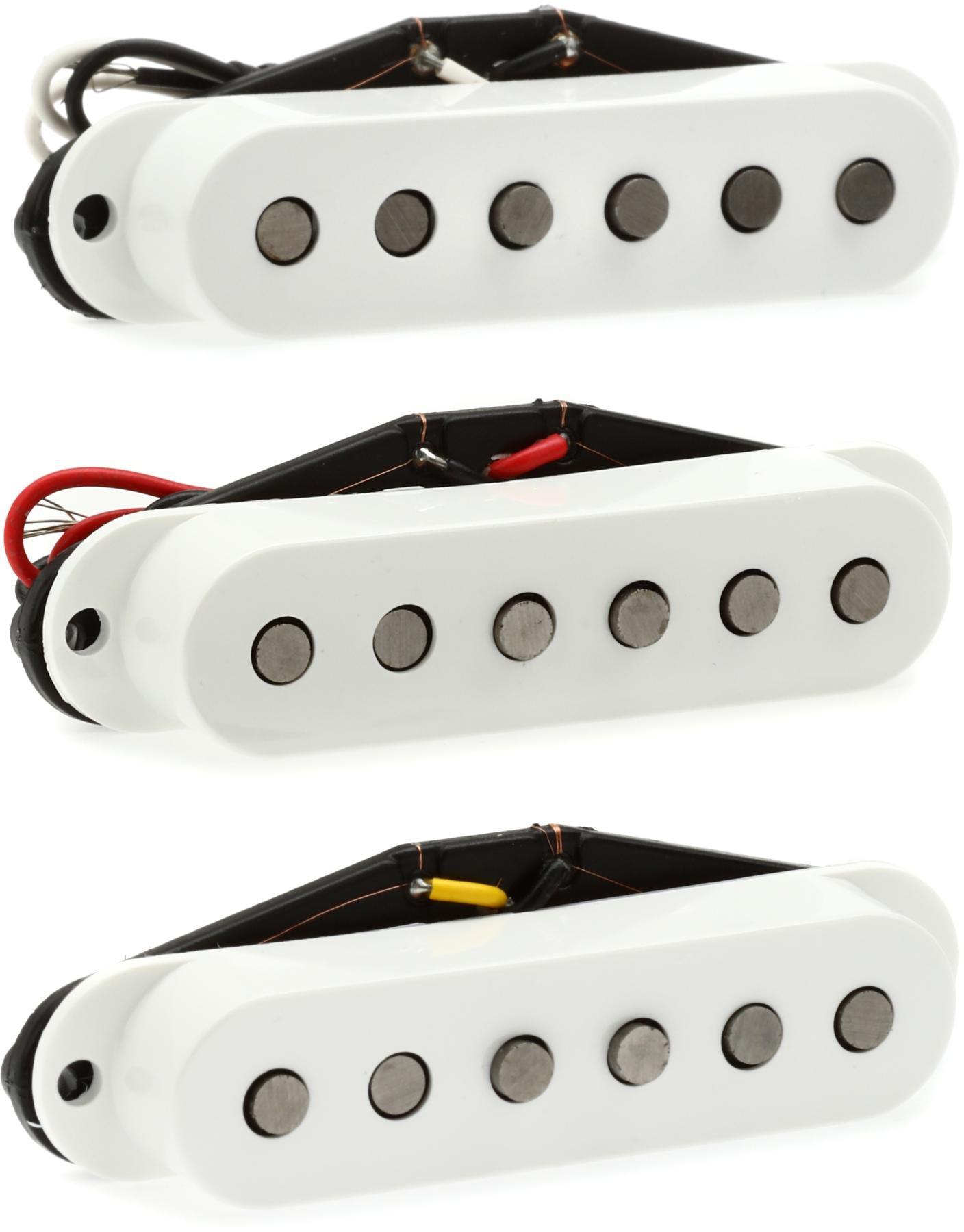 Fender Tex-Mex Pickups for Stratocaster White Single Coil Alnico V