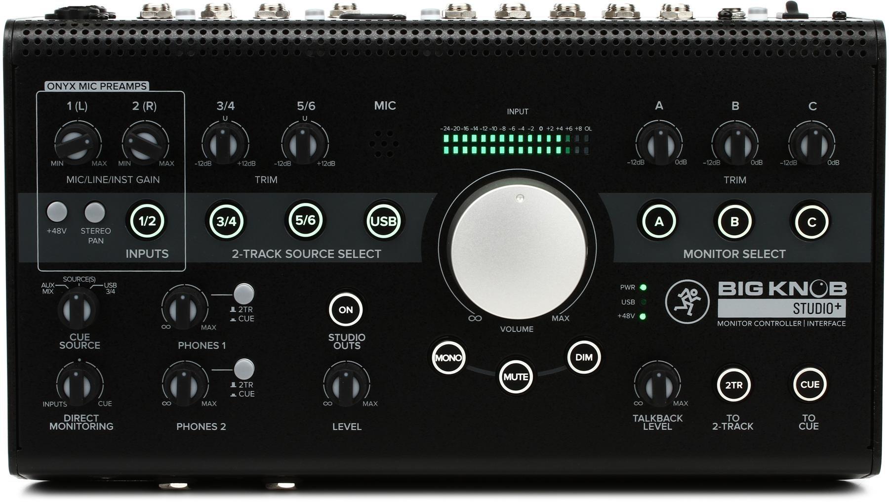 Mackie Big Knob Studio+ 4x3 Studio Monitor Controller and Interface |  Sweetwater