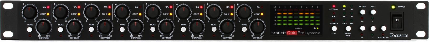 Focusrite Scarlett Octopre Dynamic Mic Preamp Sweetwater Audio Preamplifier 1 Image