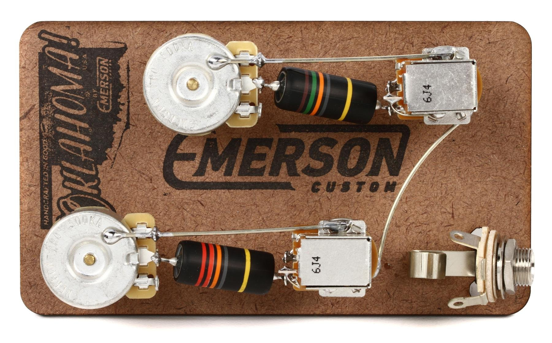 Emerson Custom Prewire Kit For Gibson Les Paul Guitars Long Shaft 4 Conductor With Wiring Diagram Push Pull