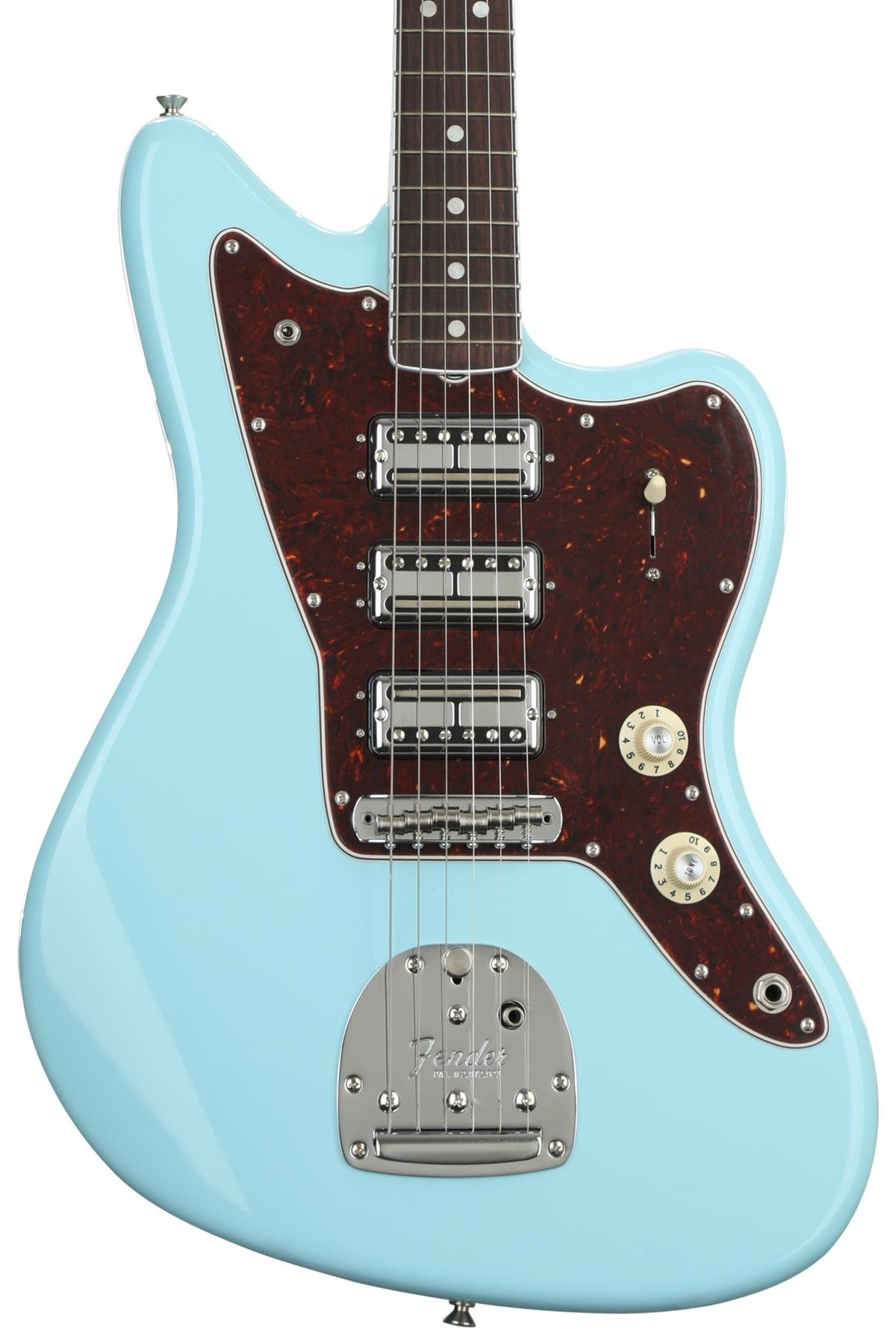 Fender Limited Edition 60th Anniversary Triple Jazzmaster Daphne Guitar Kit Builder Understanding The 5way Switch Blue Image 1