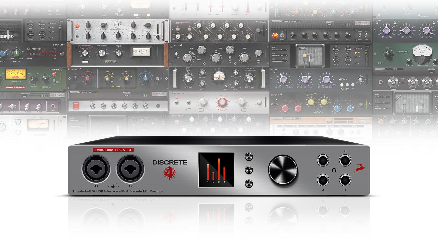 Antelope Audio Discrete 4 Microphone Preamp And Thunderbolt Usb Dynamic Amplifier Using Transistors Interface Image 1
