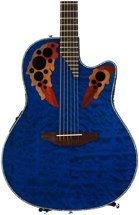 Ovation Elite Plus Celebrity - Trans Blue Quilt Maple