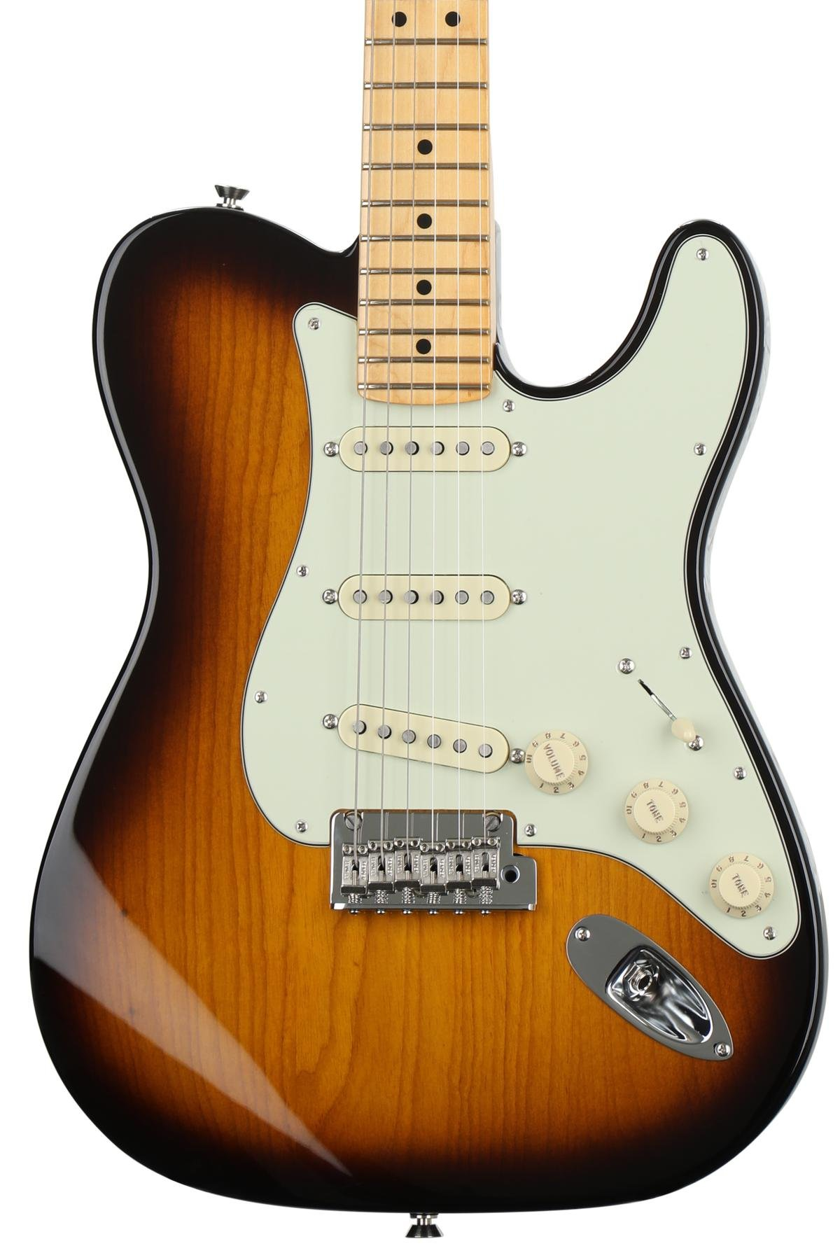 Fender Limited Edition Parallel Universe Strat Tele Hybrid 2 Color Telecaster Wiring Diagram Series Sunburst With Maple
