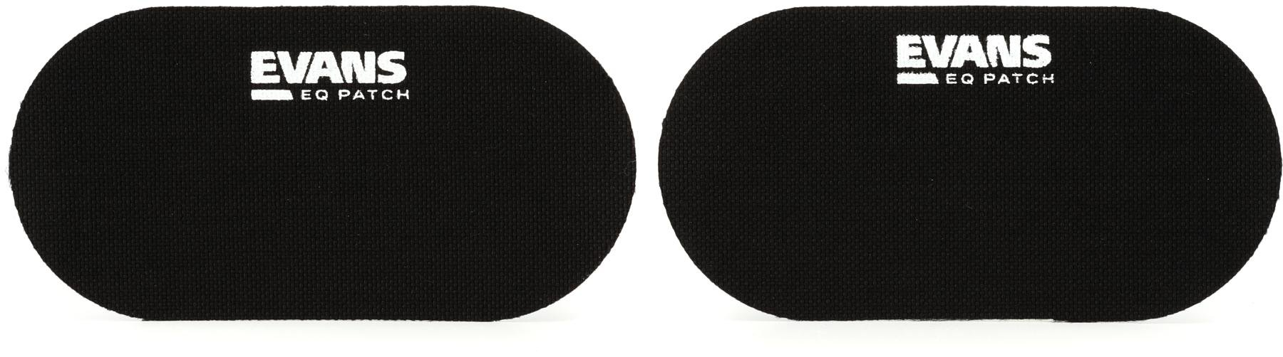 Evans eq bass drum patch nylon double pedal | drum mute, muffle.