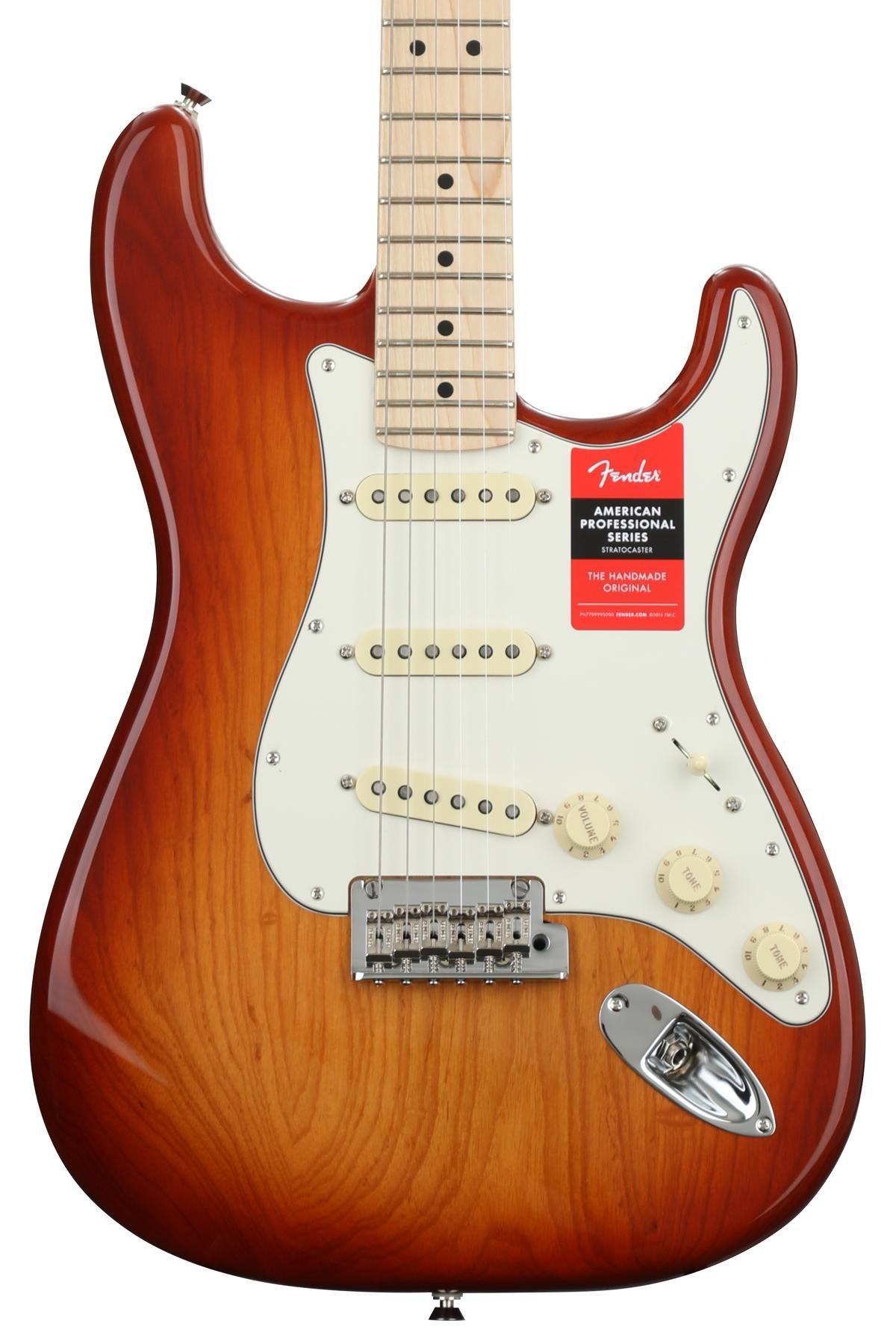 Fender American Professional Stratocaster Sienna Sunburst W Maple Squier Vm Surf Strat Wiring Diagram Fingerboard Image 1