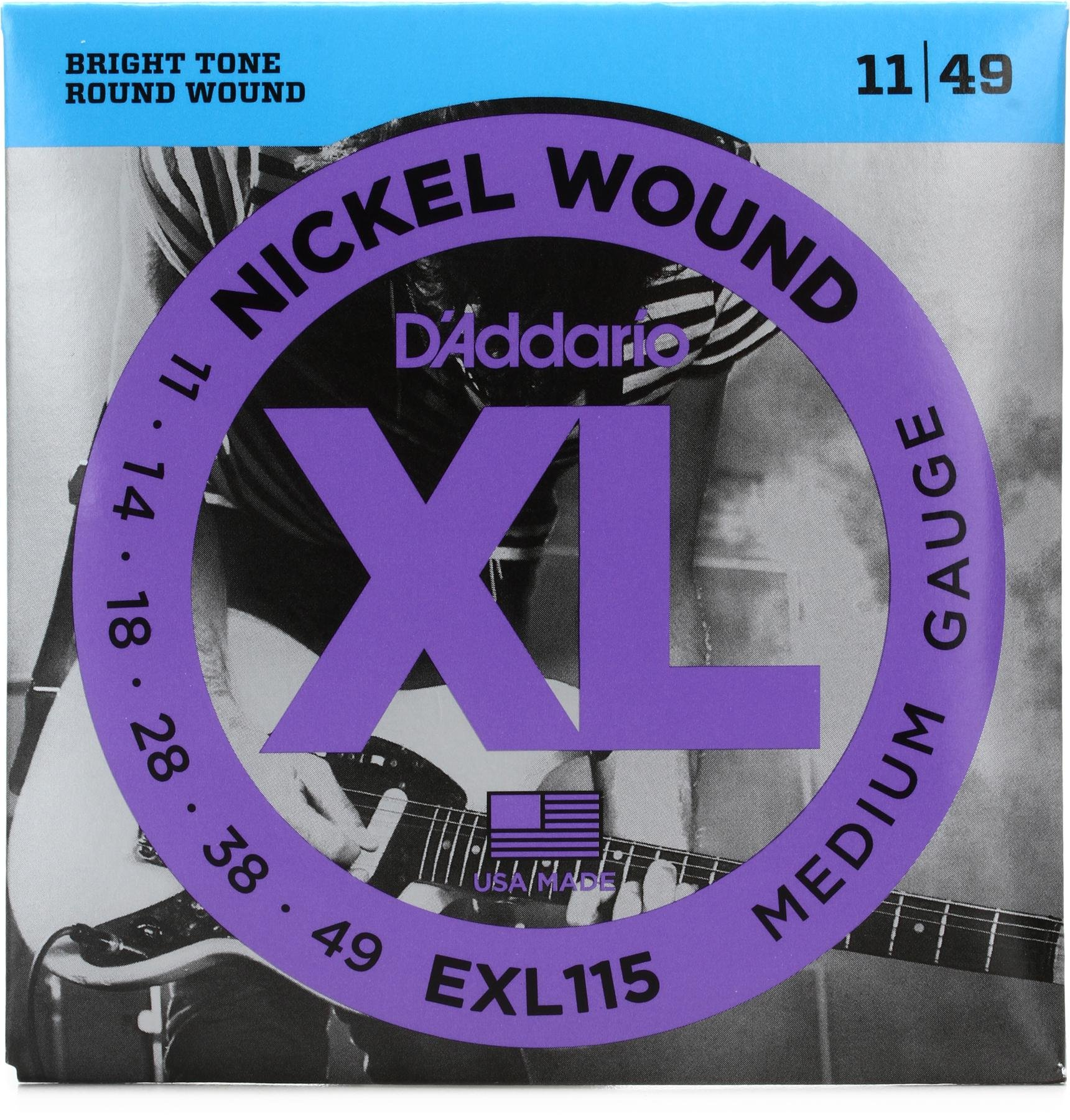 Jazz RockE-Gitarrensaiten011-049 MediumNEU Daddario EXL115WBlues