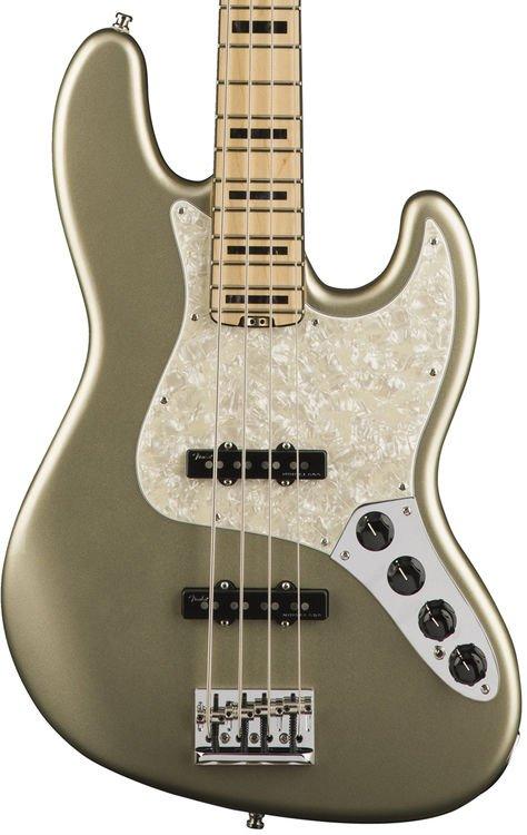 fender american elite jazz bass champagne maple fingerboard sweetwater. Black Bedroom Furniture Sets. Home Design Ideas