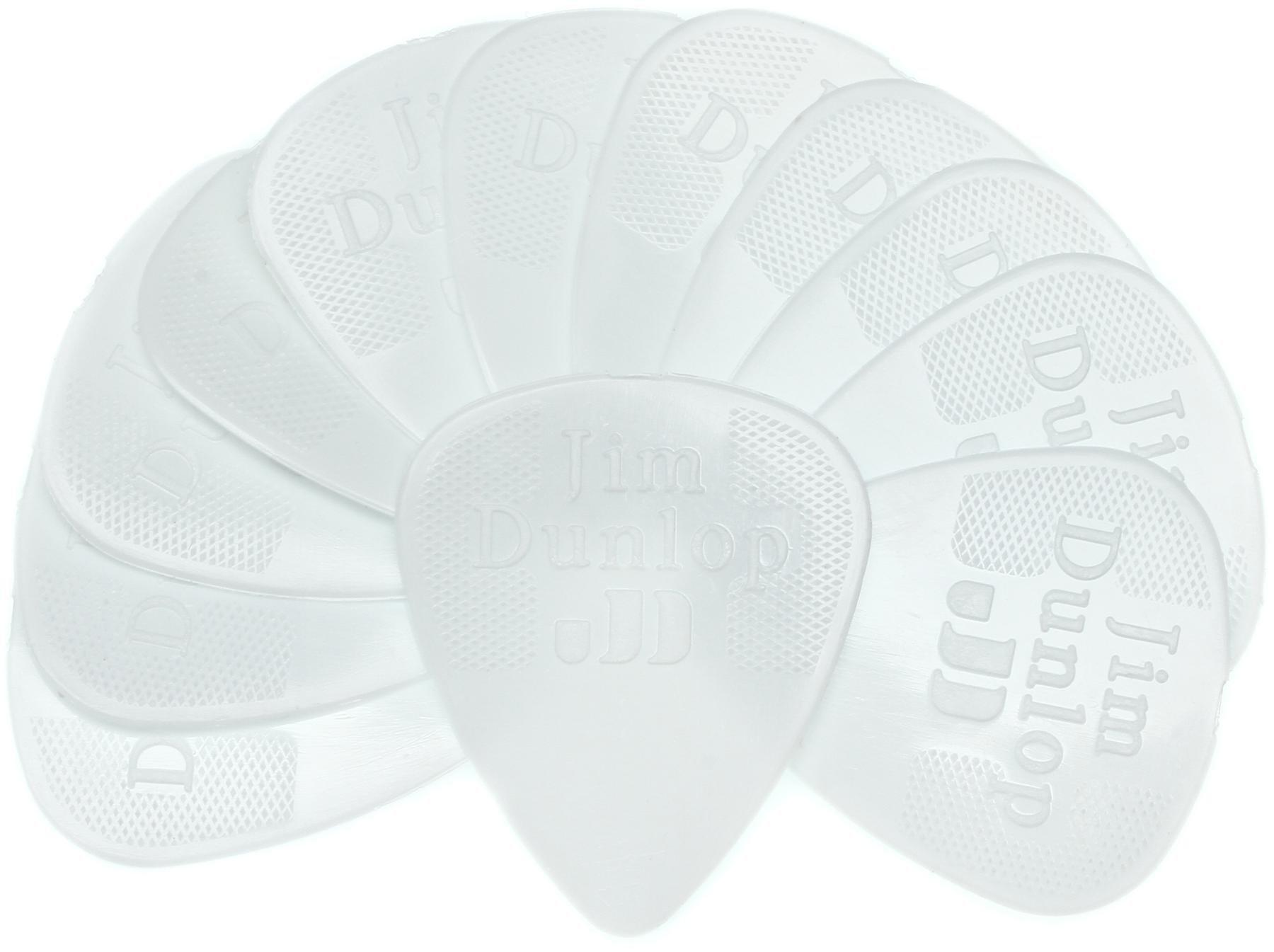 Dunlop 44P38 Nylon Standard 38mm White Guitar Picks 12 Pack Image 1
