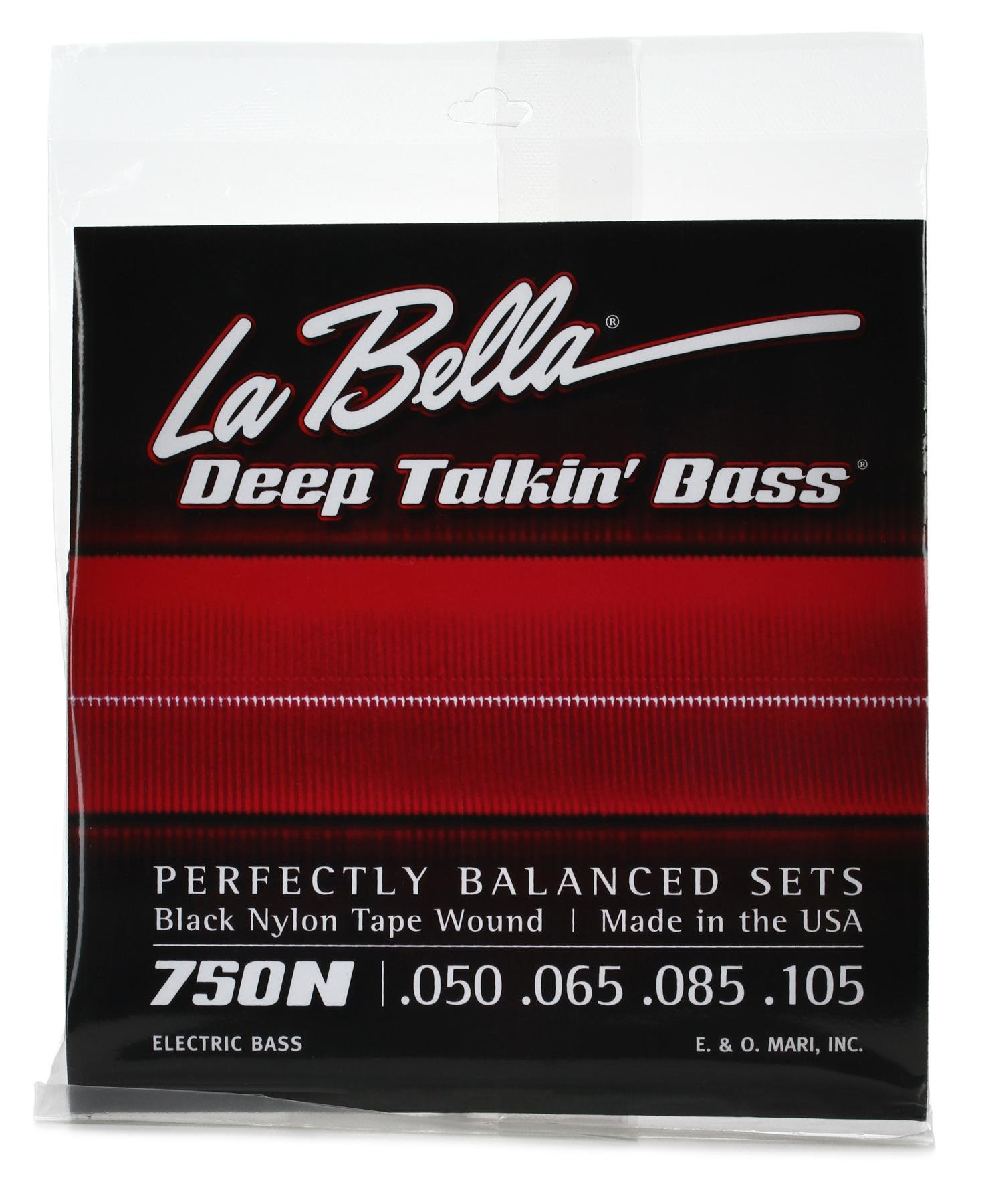 La Bella 750n Black Nylon Tapewound Bass Strings Light Sweetwater Pashmina Beautiful Four Season 039 80 Image 1