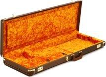 Fender Deluxe Strat/Tele Case - Brown w/ Gold Plush Interior