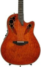 Ovation Elite Plus Contour, Sweetwater Exclusive - Orange Burst Karelian