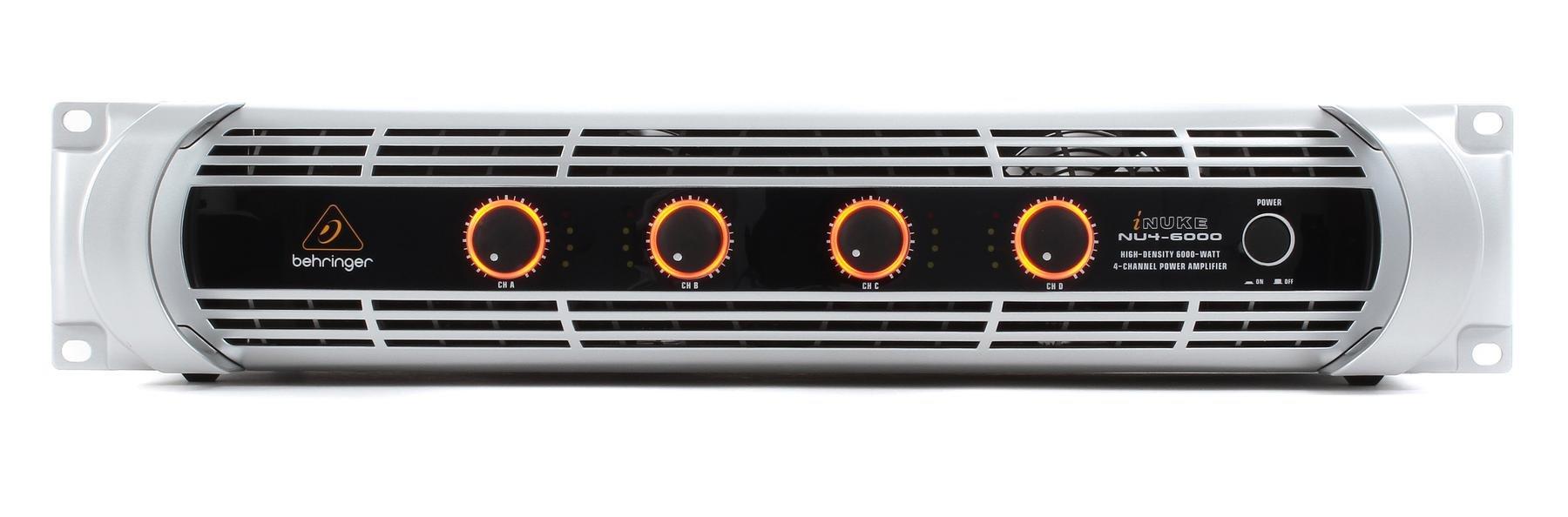Behringer Inuke Nu4 6000 Power Amplifier Sweetwater 1500 Watt High Image 1