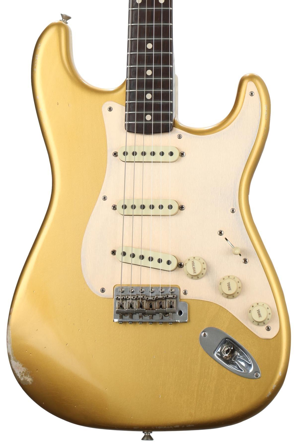 Fender Custom Shop Masterbuilt Dennis Galuszka Fat 50s Stratocaster Guitar Kit Builder Understanding The 5way Switch Aged Aztec Gold W Brazilian