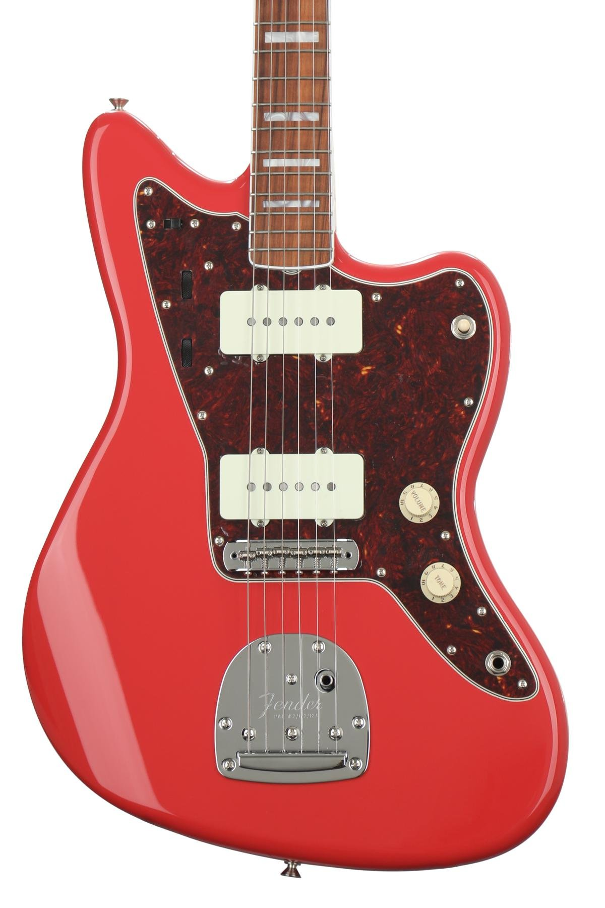 Fender Limited Edition 60th Anniversary Classic Jazzmaster Fiesta Xiom Side Tape 10mml Green Red Image 1