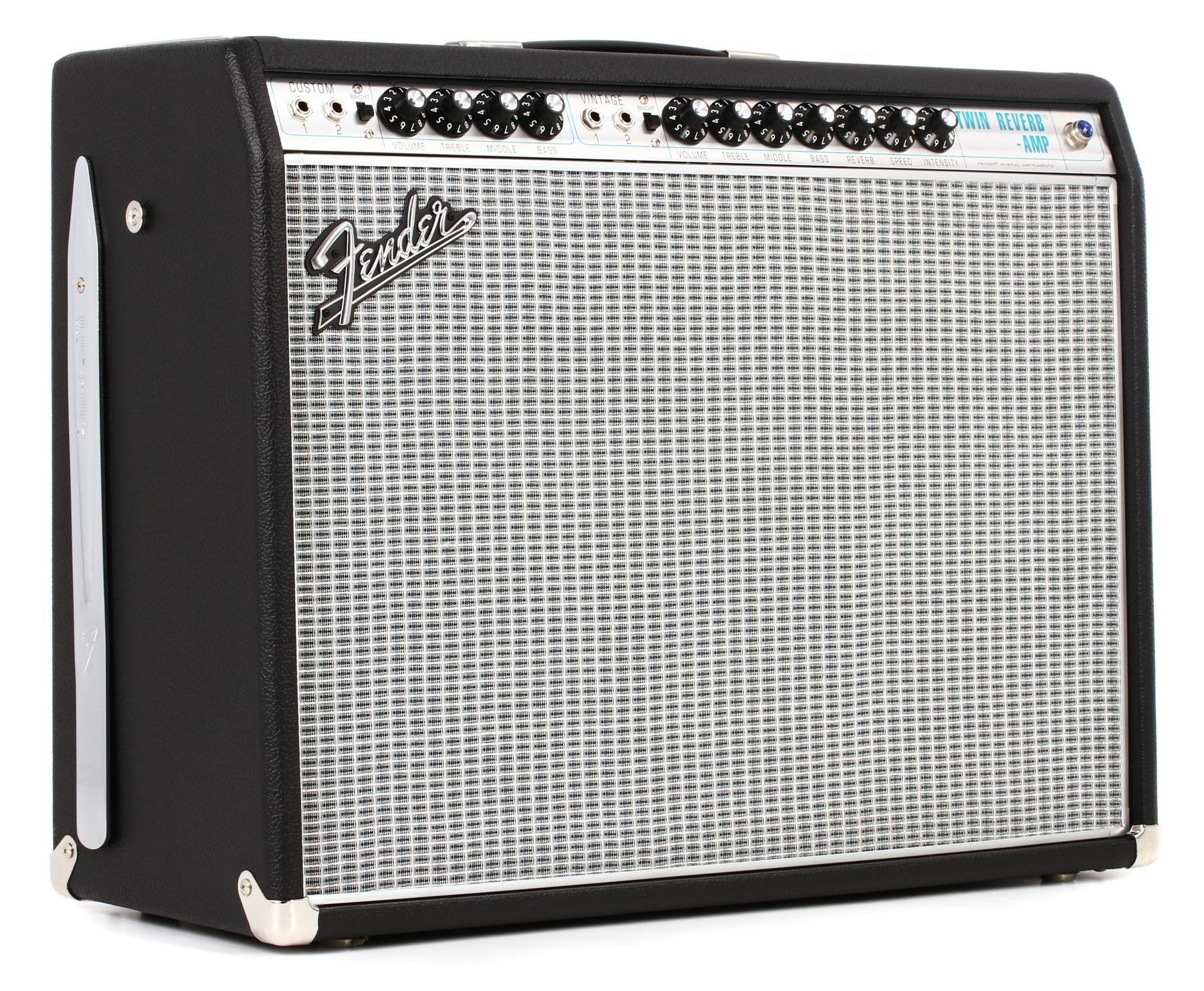 Fender 68 Custom Twin Reverb 85 Watt 2x12 Tube Combo Amp Sweetwater 70 Guitar Amplifier Circuit Preamplifier Tone Control For