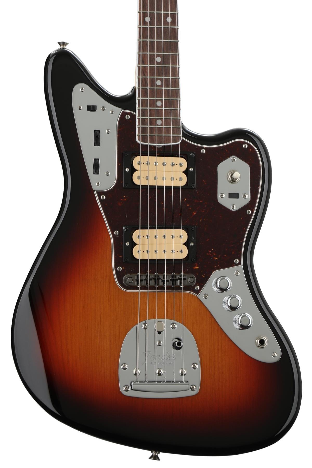 Fender Kurt Cobain Jaguar Nos 3 Tone Sunburst W Rosewood Lead Iii Wiring Diagram Fingerboard Image 1