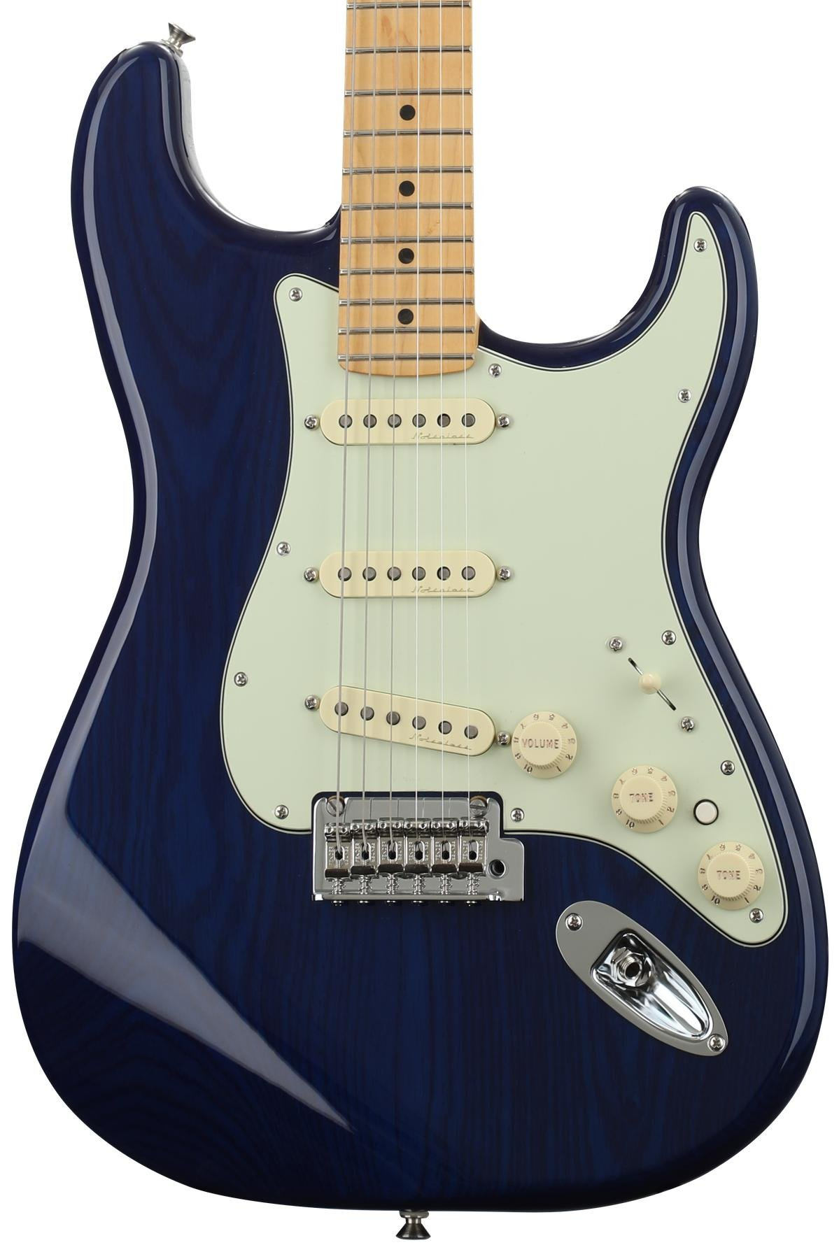 StratDSMSBT xlarge fender deluxe stratocaster sapphire blue transparent with maple Vintage Stratocaster Wiring at creativeand.co