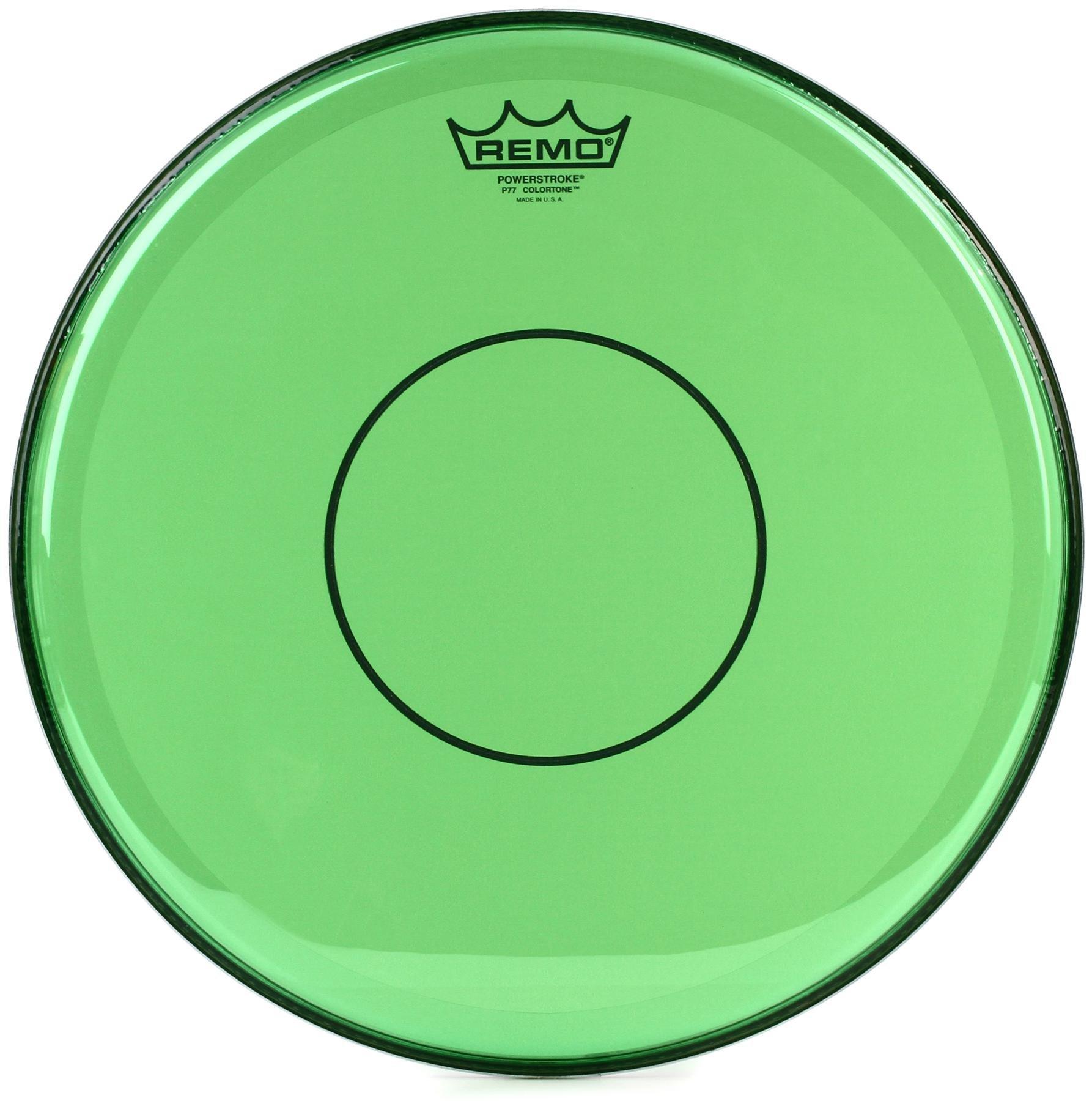 "Remo Powerstroke 77 Green Colortone 14/"" Drum Head"