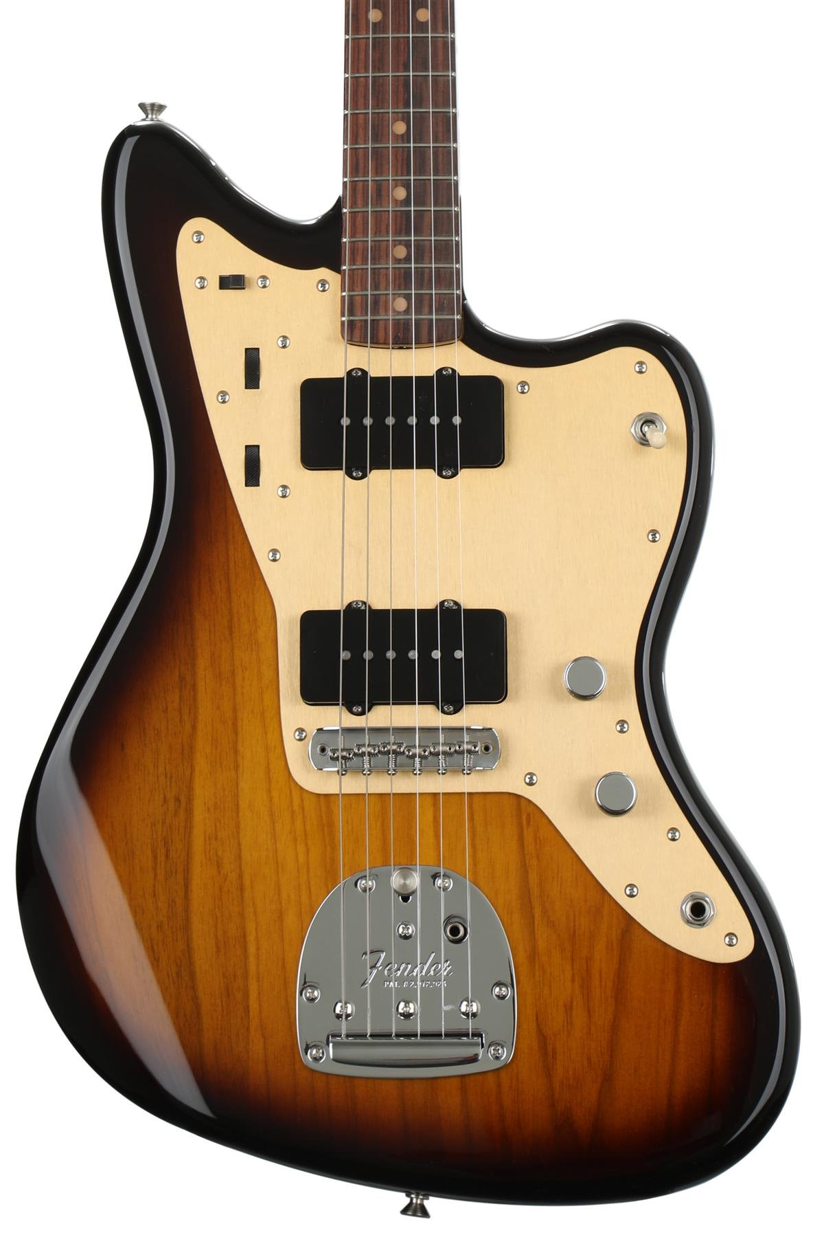 fender 60th anniversary 58 jazzmaster 2 color sunburst with rh sweetwater com