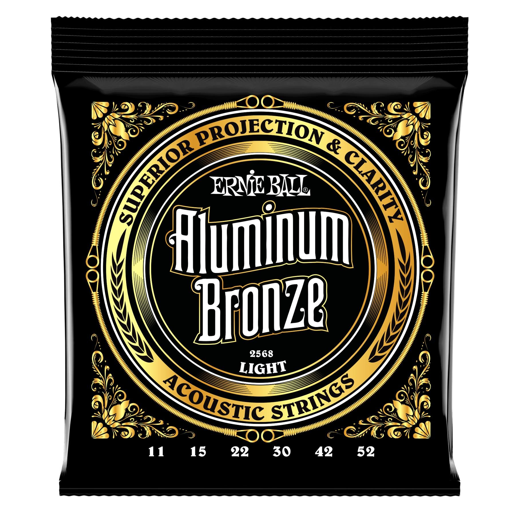 Ernie Ball 2568 Aluminum Bronze Acoustic Strings - .011-.052 Light image 1