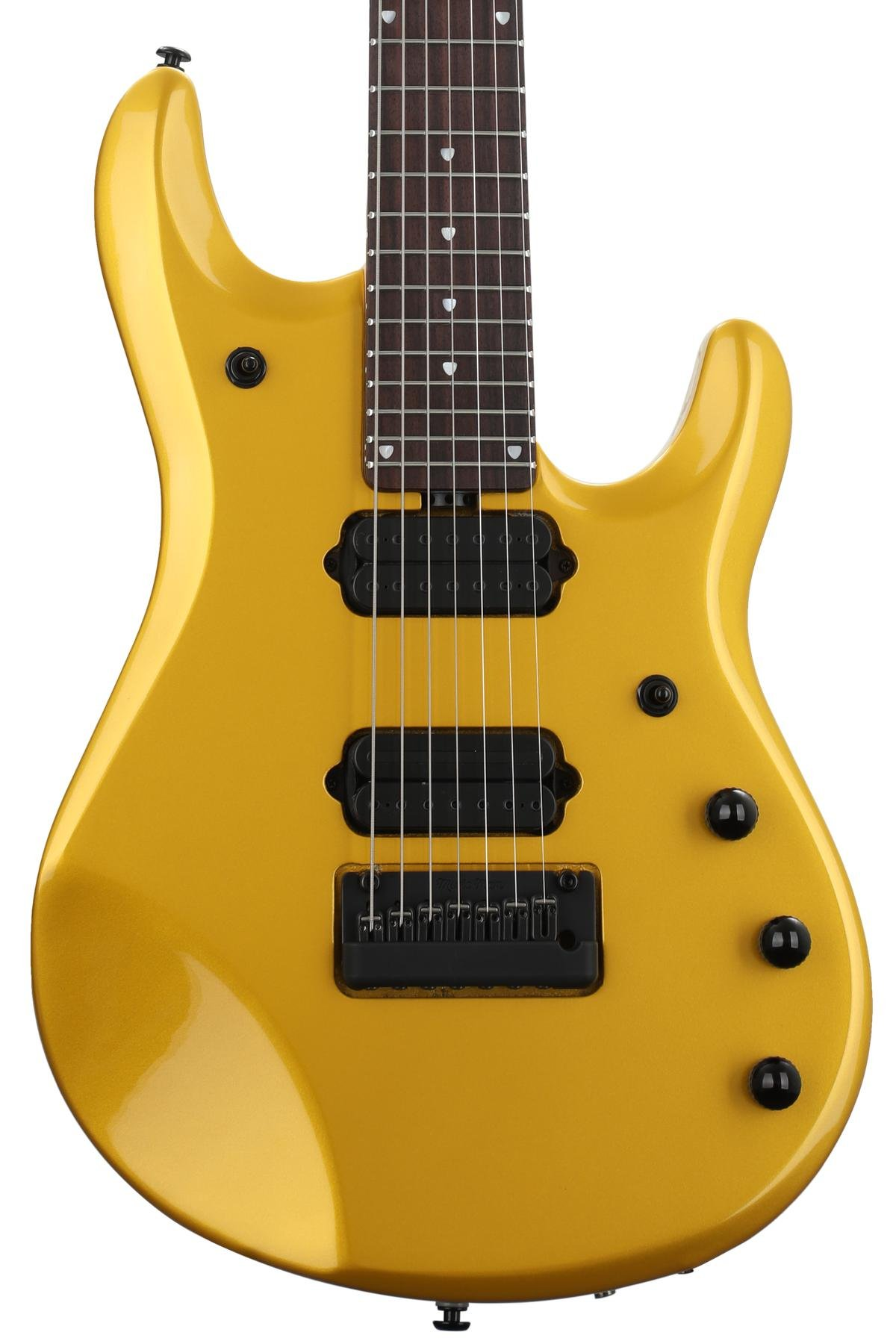 Ernie Ball Music Man John Petrucci 7 with Piezo - Firemist Gold